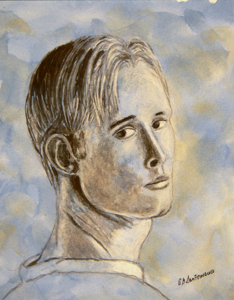 portrait-blond-man-blue-watercolor-8-x-8