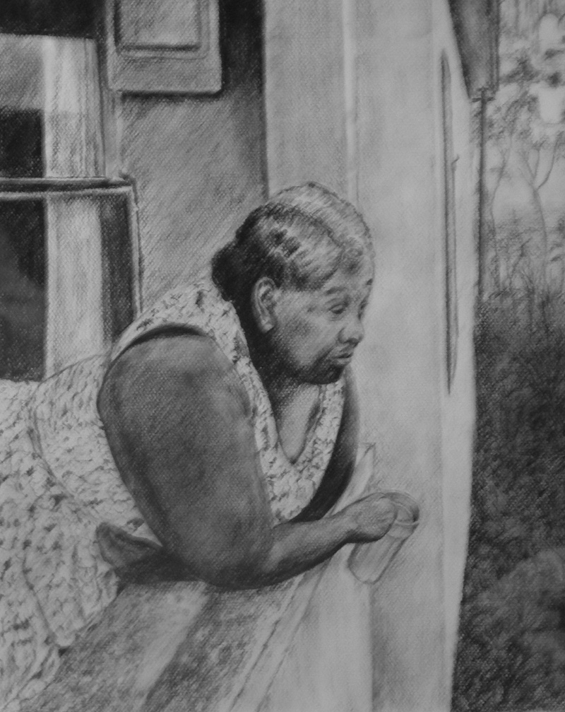 women-at-balcony-charcoal-22-x-17