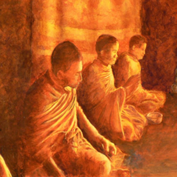 Santomauro, Anthony_Cambodian Monks at Prayer,_Acrylic,28x22_$3000 _1399_edited-1