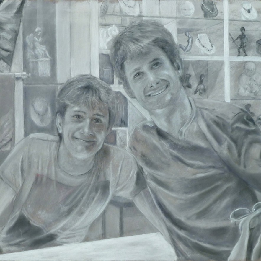 Brothers-in-the-Hermitage-Pastel-19-x-20